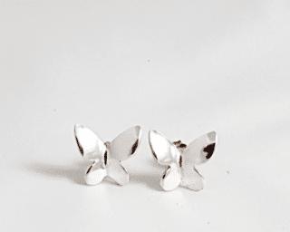 arete de plata peruana mariposa