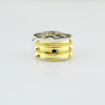 anillo atlante en plata y oro
