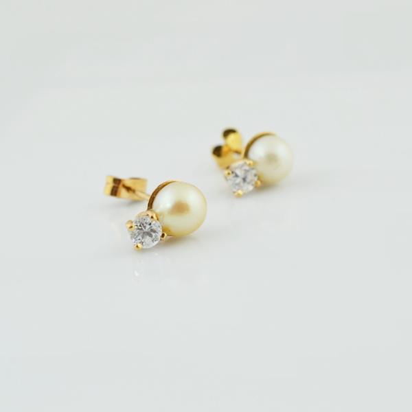 ae15404f860a Aretes de oro de 18k con perlas Damma - Aretes para Ella - Joyería ...