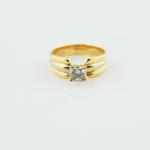 anillo de oro blanco