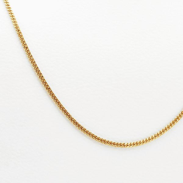 cadena de oro naranja 18k